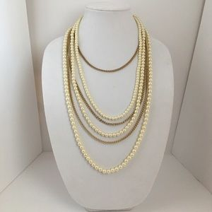 Jewelry - Pearl necklace multi layer gold chain Nordstrom